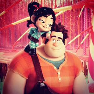 Ralph and Vanellope, an unlikely friendship.
